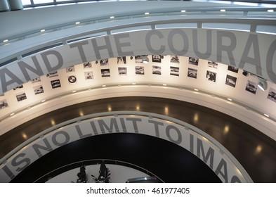 MUNICH, GERMANY - MAY 30: BMW museum building on May 30, 2016, Munich, Germany.