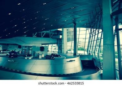 MUNICH - GERMANY MAY 30: BMW Welt (BMW World) building on May 30, 2016, Munich, Germany.