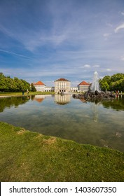 MUNICH, GERMANY – MAY 7 2019: Beautiful Views On Castle Nymphenburg.