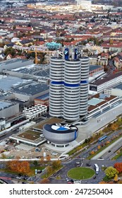 MUNICH - GERMANY November 7: BMW building museum on November 7, 2007, Munich, Germany. The BMW Museum is located near the Olympiapark in Munich and was established in 1972