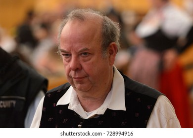 MUNICH, GERMANY - OCT 2, 2017: Unidentified man at the Octoberfest,  the world's largest festival