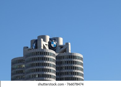 MUNICH, GERMANY - OCTOBER 16, 2017: BMW museum building in Munich, Germany