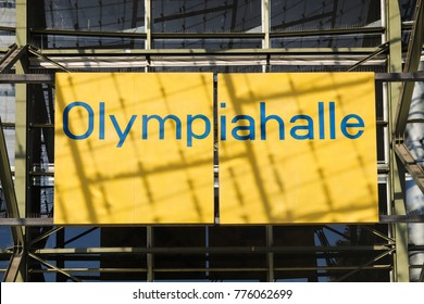 MUNICH, GERMANY - OCTOBER 16, 2017: Olympiahalle in the olympic park in Munich, Germany