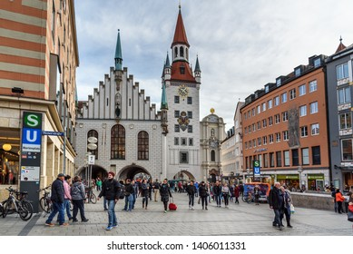 Munich, Germany - October 31, 2018: Old Town Hall or Altes Rathaus in Munich