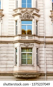 Munich, Germany, on August 16, 2018. Architectural details of a typical house in the Bavarian capital