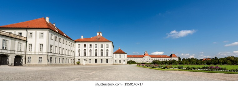 MUNICH, GERMANY - SEP 8, 2018: Nymphenburg Palace of Munich (Schloss Nymphenburg - Castle of the Nymphs). The palace was the main summer residence of the former rulers of Bavaria