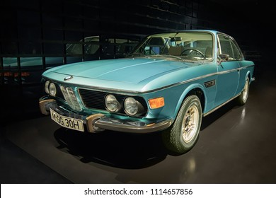 MUNICH, GERMANY-APRIL 4, 2017: 1971 BMW 3.0 CSi in the BMW Museum.