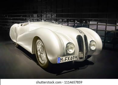 MUNICH, GERMANY-APRIL 8, 2017: 1939 BMW 328 Mille Miglia Roadster in the BMW Museum.