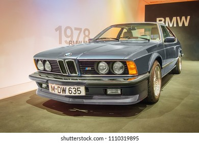 MUNICH, GERMANY-APRIL 8, 2017: 1983 BMW M635 CSi in the BMW Museum.