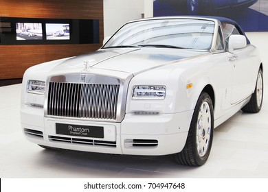 Munich, Germnay: April 2012, Rolls Royce Phantom Drophead Coupe shows at BMW museum
