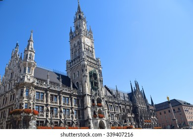 Munich Marienplatz City Hall Building