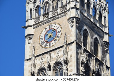 Munich Marienplatz City Hall Tower Clock