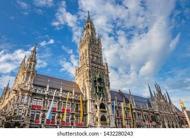 Munich Marienplatz old city hall called Altes Rathaus, travel bavaria germany