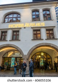 MUNICH - OCTOBER 14 : Front of Hofbrauhaus, the largest beer house in Munich, Germany, on October 14, 2016.