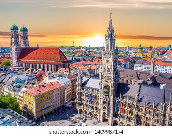 Munich in Sunset Bavaria Germany