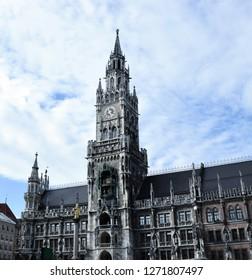 Munich town hall. Munchen Neues Rathaus. Munich, Germany.