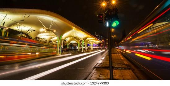munich traffic lights motion with green light