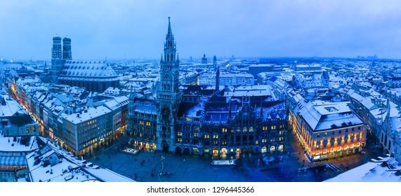 Munich. Winter night