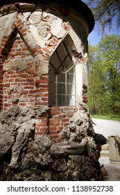 Munich,detail of  Magdalenenklause or Magdalene Hermitage in Nymphenburg park , built in XVII century like a hermit living quarter and church