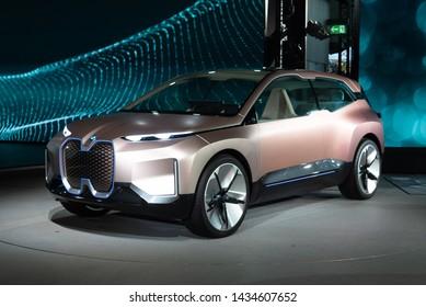 Munich/Germany - June 25, 2019: BMW vision INEXT (next gen)