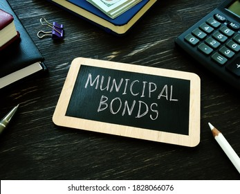 Municipal bonds written on the small blackboard.