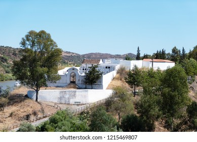 the municipal cemetery of Alcoutim is located outside the village, on one of the hills that dominates the Rio Guadiana river. As is traditional in the Algarve the cemetery is essentially a columbarium