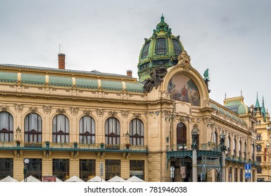 Municipal House is a civic building in  Art Nouveau architecture style, Prague, Czech republic
