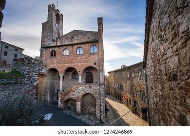 Municipal Palace (Palazzo Comunale) of Suvereto, Province of Livorno, Tuscany, Italy