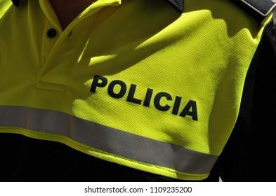 "Municipal policeman ""policia local"", Spain"