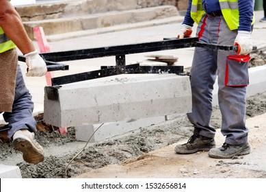 municipal work, reconstruction of a street road,