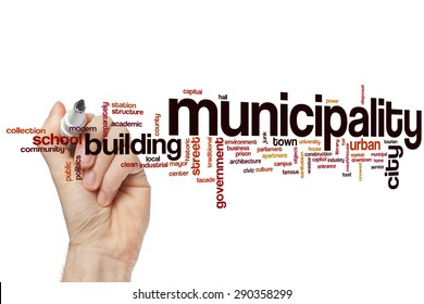 Municipality word cloud concept