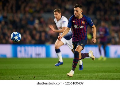Munir El Haddadi of Barcelona during the match between FC Barcelona and Tottenham Hotspurs at Camp Nou Stadium in Barcelona, Spain on December 11, 2018.