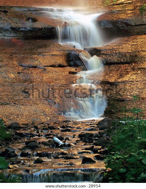 Munising Falls Michigan, closeup