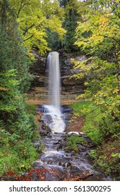 Munising Falls Surrounded by Fall Color