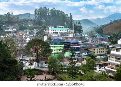 Munnar, Kerala, India : December 26, 2018 : Famous city in the center of the tea zone culture, accross the mounains in the Beautiful Kerala in the south of India