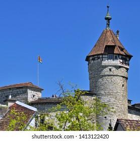 Munot Tower - town Landmark of Schaffhausen, switzerland
