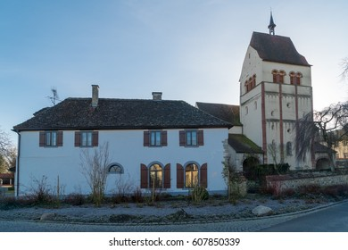 Munster St. Maria und Markus church situated on the Reichenau island near Konstanz, Germany. Reichenau is an island in Baden-Wurttemberg in Germany. It is under the UNESCO protection.