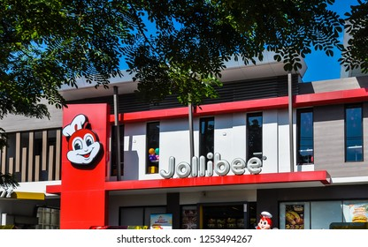 Muntinlupa, Philippines - Oct. 25, 2017: Jollibee branch in Muntinlupa City. Jollibee is the largest fast food chain in the Philippines, operating a nationwide network of over 750 stores.