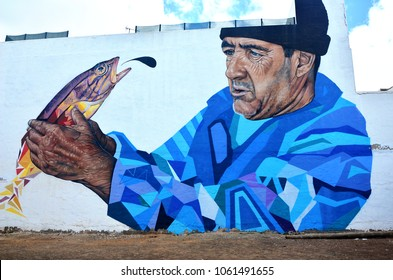 Mural art in the city of Puerto del Rosario, Fuerteventura, Canary Islands