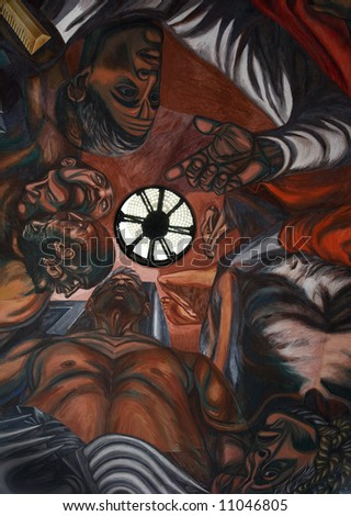 Mural By Jose Clemente Orozco University Stock Photo Edit Now