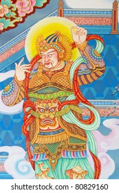 Mural Chinese temple in Thailand, which opened to the public to visit and photograph.