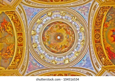 The mural of religious story about Jesus of Christ with beautiful decoration.