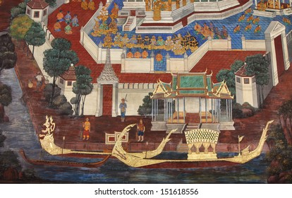 Murals at Wat Phra Kaew.