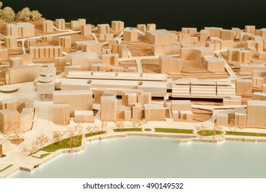 Muralto, Switzerland - 20 March 2009: Site surrounding model for architectural presentation and background