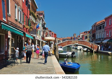 Murano, Venice, Italy in the summer season