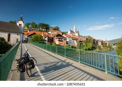 Murau, Austria. Bicycle touring