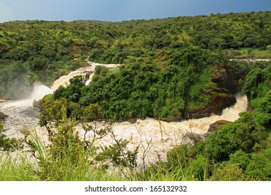 Murchison and Uhuru falls in Murchison Falls National Park, Uganda.