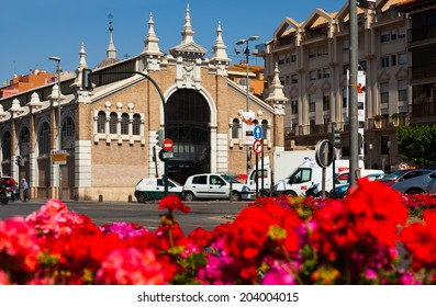 MURCIA, SPAIN - APRIL 15, 2014: Street view of Murcia. Veronicas exhibitions hall in spring