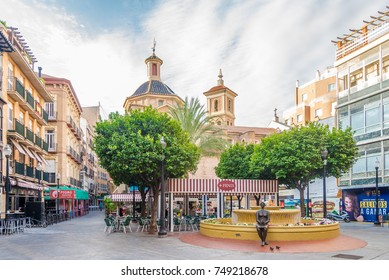MURCIA,SPAIN - OCTOBER 4,2017 - At the place of Flowers in Murcia. Murcia is the seventh largest city in the Spain.