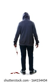 Murderer, Isolated over white background